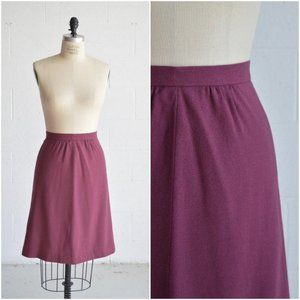 70s high waisted purple wool pencil skirt